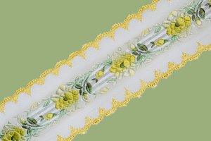 French Vitage Floral Ribbon